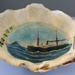 Clam Shell with painting of TSS TOFUA, Union Steam Ship Company., Mr  Barnes,, Frank, Between 1908 - 1932, 3385