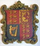 Wooden plaque depicting the Royal Arms, from HMS ORPHEUS, After 1837, 296
