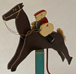 Wooden race horse used on board passenger ships for horse racing; mid 20th Century; 2006.246.1