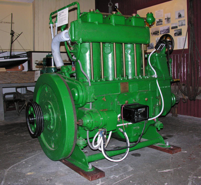 Kelvin Diesel Engine, Model-K, Series 3, Bergius-Kelvin Company    Glasgow Scotland, Mid 20th century, 2394