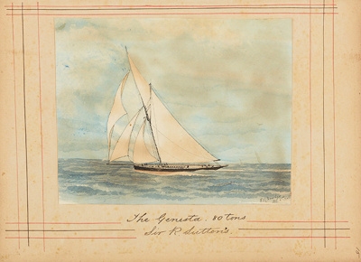 Painting: The GENESTA. 80 tons - Sir R. Sutton's; F.W. Coombes; 1994.97.14