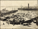 Photograph: Auckland waterfront, date unknown.; Auckland Harbour Board. Engineer's Dept.; 2010.132.82