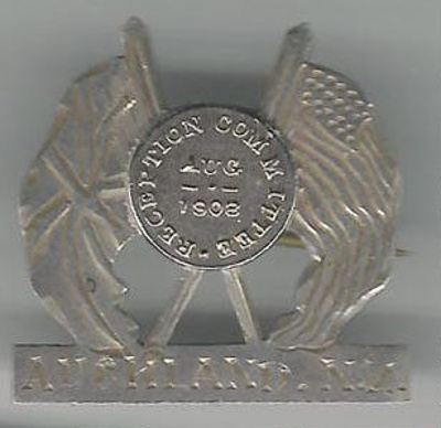 Badge: reception committee Great White Fleet; 2001.225.5
