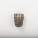 Silver thimble, marked MARY.; 2017.8.22