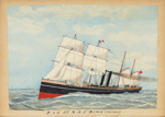 Painting: P&O C'os. R.M.S ROME (5013 tons); F.W. Coombes; 1994.97.25
