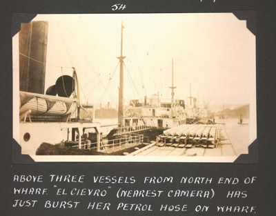Photograph: Vessels berthed at Western Wharf; Foss Tackaberry; 2015.69.75