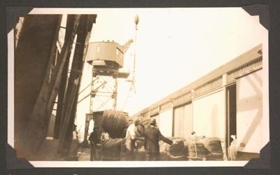 Photograph: KARAMEA loading wool; Foss Tackaberry; 2015.69.21