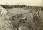 Photograph: View from Campbell's Point, St. George's Bay reclamation, 1916.; Auckland Harbour Board. Engineer's Dept.; 2010.132.355