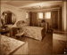 Photograph: Empire Suite -  Bedroom; Shaw Savill & Albion Company; Stewart Bale Ltd; 1994.279.25