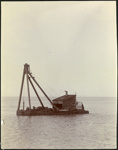 Photograph: Rock cutter, Auckland, date unknown.; Auckland Harbour Board. Engineer's Dept.; 2010.132.309
