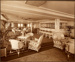 Photograph: Palm Court With Bar - Promenade Deck. Wood-work of Bar in Sycamore; Shaw Savill & Albion Company; Stewart Bale Ltd; 1994.279.15