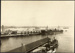 Photograph: Construction of Princes Wharf, with MS HAURAKI (1922) alongside, 1924.; Auckland Harbour Board. Engineer's Dept.; 2010.132.55