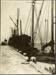 Photograph: Collier KAKAPO (1901) and scow ALERT (1901) alongside new Devonport cargo wharf, 1928.; Auckland Harbour Board. Engineer's Dept.; 2010.132.158