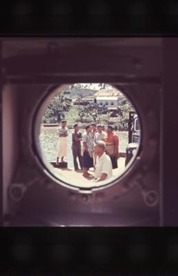 Slide: View through porthole, TOFUA; Sybil Dunn; Keith Dunn; 2013.264.98