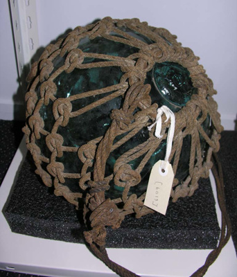Glass Float, Fishing Net; 1995.119.1