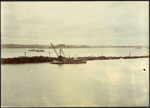 Photograph: Western Breakwater, Auckland, 1917.; Auckland Harbour Board. Engineer's Dept.; 2010.132.347