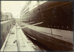 Photograph: NIAGARA (1913) in Calliope Dock, 1915.; Auckland Harbour Board. Engineer's Dept.; 2010.132.335