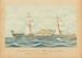 """Painting: Nord Deutsher Lloyd S.S. """"PREUSSEN"""" (4575 Tons) Bremen and Australia; F.W. Coombes; 1994.97.21"""