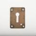 Small brass keyhole plate; 2017.8.3