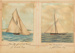 "Paintings: The ""MARJORIE"" (68 tons) J. Coats Esq. and The ""SAMOENA"" 90 tons J. Jamieson Esq.; F.W. Coombes; 1994.97.15"