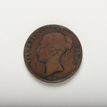 Coin: Victorian penny dated 1855.; Royal Mint, UK; 2017.8.27