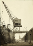 Photograph: Crane, Auckland, date unknown.; Auckland Harbour Board. Engineer's Dept.; 2010.132.304