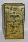 Tin of lifeboat and raft biscuits; Griffin's; March 1943; 2002.126.2
