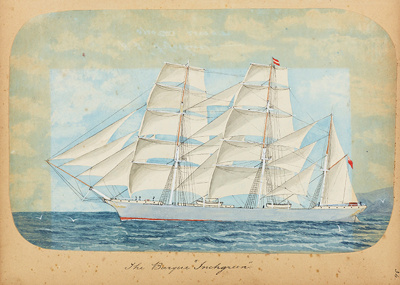 "Painting: The Barque ""INCHGREEN""; F.W. Coombes; 1994.97.32"