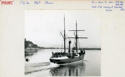 Index card: TONGARIRO (1883).; Bill Laxon