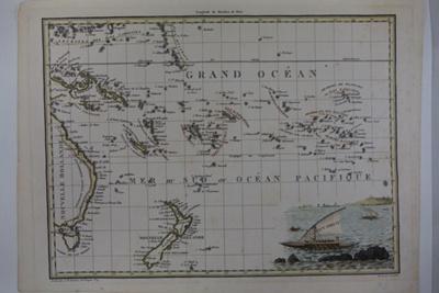 Chart: Grand Océan mer du sud ou Océan Pacifique; Giraldon; Jean-Baptiste Tardieu; 2007.44.4