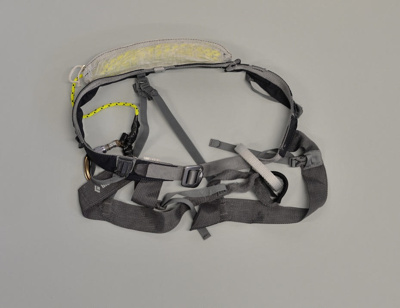 Richard Meecham's safety harness, 2013 America's Cup; Black Diamond Equiptment, Ltd; 2014.5.4