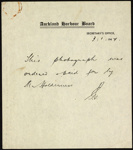 Photograph: Note accompanying photograph of the delegates at the Harbour Conference, 1947.; Auckland Harbour Board. Engineer's Dept.; 2010.132.307