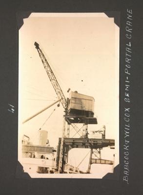 Photograph: 'Babcock & Wilcox Semi-Portal Crane'; Foss Tackaberry; 2015.69.60