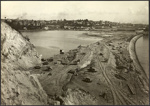 Photograph: View from Campbell's Point, St. George's Bay reclamation, 1916.; Auckland Harbour Board. Engineer's Dept.; 2010.132.354