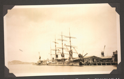 Photograph: Barque OLIVEBANK at Kings Wharf; Foss Tackaberry; 2015.69.12
