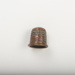 Copper thimble with square dimple pattern and raised rim edge.; 2017.8.21