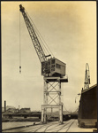 Photograph: Crane, Auckland, date unknown.; Auckland Harbour Board. Engineer's Dept.; 2010.132.296