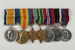 Medals: campaign and service medals awarded to to George Davis, mounted on bar; Royal Mint, UK; 1999.21.17