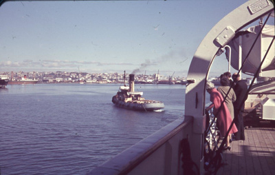 Slide: AUCKLANDER taking leave from the TOFUA; Sybil Dunn; Keith Dunn; 2013.264.8