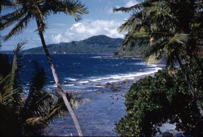 Slide: View of coast; Sybil Dunn; Keith Dunn; 2013.264.203