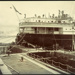 Photograph: NIAGARA (1913) in Calliope Dock, 1915.; Auckland Harbour Board. Engineer's Dept.; 2010.132.330