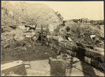 Photograph: Commencement of Eastern Breakwater, Auckland, 1920.; Auckland Harbour Board. Engineer's Dept.; 2010.132.349