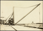 Photograph: Hand crane at Calliope Dock, date unknown.; Auckland Harbour Board. Engineer's Dept.; 2010.132.292