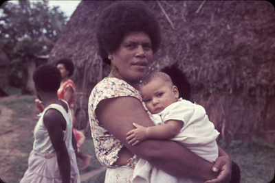 Slide: Women and child, Fiji; Sybil Dunn; Keith Dunn; 2013.264.35