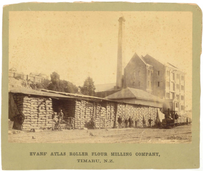 Evans' Atlas Roller Flour Milling Company, Timaru, N.Z.; Ferrier, William; 1889-1897; 2775