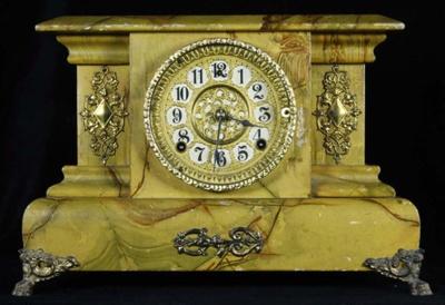 Clock, shelf; William L Gilbert Clock Company; 1903; 2009/209.01