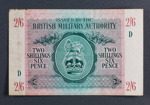 British Military Authority Two Shillings Six Pence