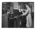 Hollerith Machine being operated by Miss M. Talbut, 1948