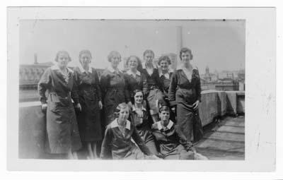 Photograph of Note Office staff c1935; c1935