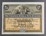 Colonial Bank of New Zealand 1894 One Pound